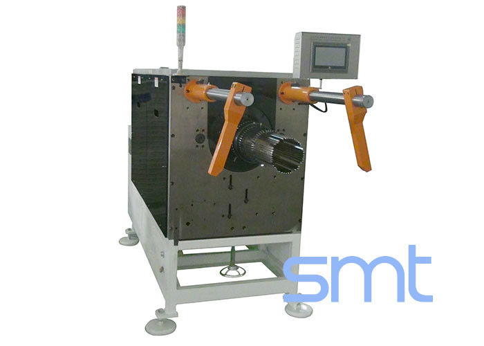 Automatic Servo System Wedge Inserting Machine Stator Coil SMT-QX10 , Orange color